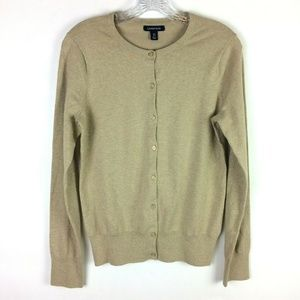 Lands' End XS 2-4 Cardigan Sweater Gold Buttons